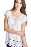 Urban Love Jersey Keyhole Top with Hem Detail - WholesaleClothingDeals - 1