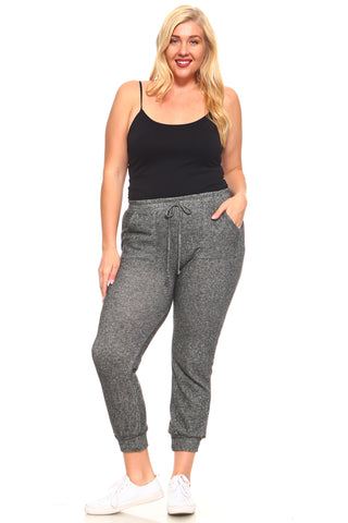Women's Plus Size Sweat Pants with Cuffs