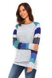 Women's Multi-Color Long Sleeve Top