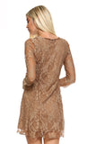 Women's 3/4 Three Quarter Sleeved Lace Dress