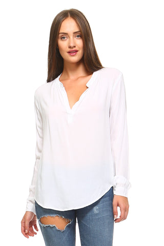 Women's V-Neck Long Sleeve Blouse