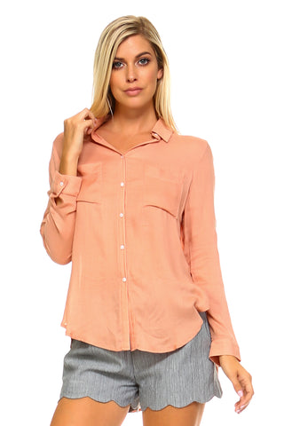 Women's High Low Blouse Top