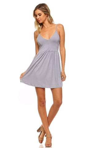 Women's Criss Cross Back Skater Dress