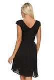Women's Lace Silk Button Dress
