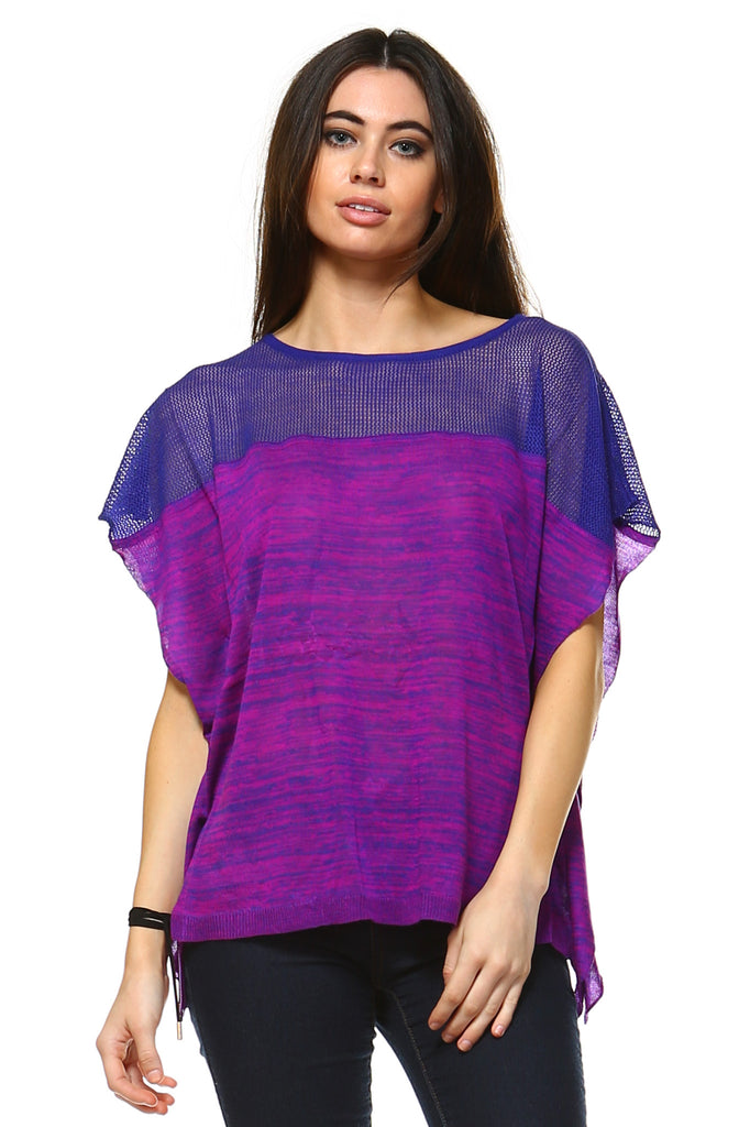 Women's Violet Patterned Top
