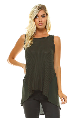 Women's High-Low Sleeveless Top