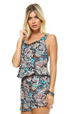 Women's Printed Back Tie Romper