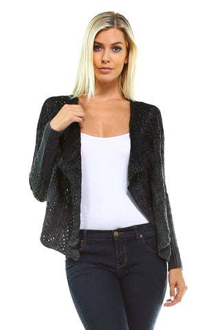 Women's Open Knit Cardigan