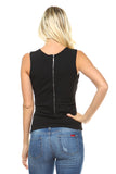 Women's Sleeveless A-Line Top with Chain Details