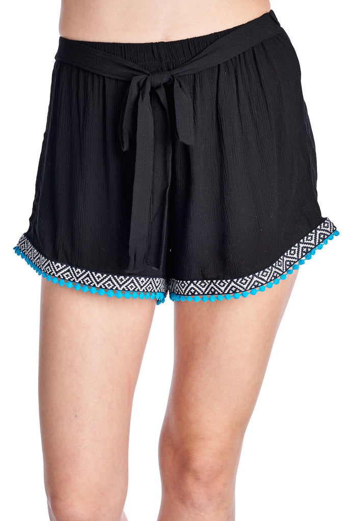 Urban Love Rayon Short with Color Trim - WholesaleClothingDeals - 2