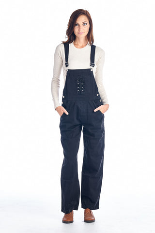 Carolina Blues Black Washed Denim Overalls - WholesaleClothingDeals - 1