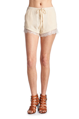 Urban Love Woven Tie Shorts With Lace Trim - WholesaleClothingDeals - 6