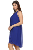 SLNY Chiffon Gem Neckline Dress - WholesaleClothingDeals - 3