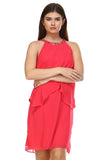 SLNY Gem Neckline Chiffon Dress - WholesaleClothingDeals - 2