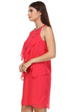 SLNY Gem Neckline Chiffon Dress - WholesaleClothingDeals - 3