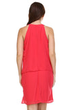 SLNY Gem Neckline Chiffon Dress - WholesaleClothingDeals - 4