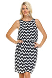 SLNY Printed Dress with Side Pockets -  - 2