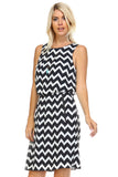 SLNY Printed Dress with Side Pockets -  - 3
