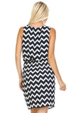 SLNY Printed Dress with Side Pockets -  - 4