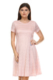 SLNY Textured Knit A-Line  Dress - WholesaleClothingDeals - 2