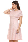 SLNY Textured Knit A-Line  Dress - WholesaleClothingDeals - 3