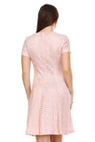 SLNY Textured Knit A-Line  Dress - WholesaleClothingDeals - 4