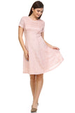 SLNY Textured Knit A-Line  Dress - WholesaleClothingDeals - 1