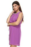 SLNY Petite Beaded Neckline Chiffon Dress - WholesaleClothingDeals - 3