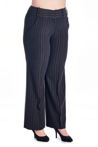 Larry Levine Stripe Pants - WholesaleClothingDeals - 1