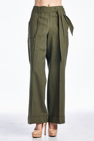 Larry Levine Pant with Waist Tie - WholesaleClothingDeals - 1