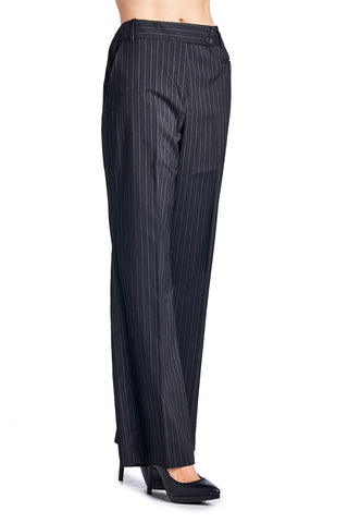 Larry Levine Pinstripe Pants - WholesaleClothingDeals - 1