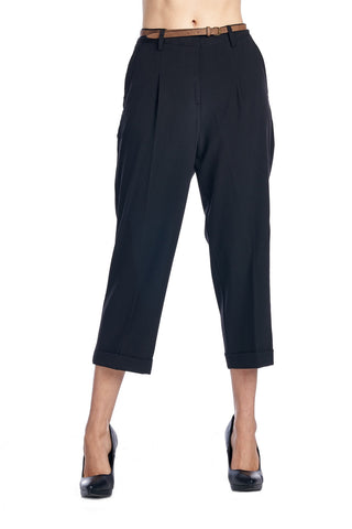 Larry Levine Stretch Pleated Trousers - WholesaleClothingDeals - 1