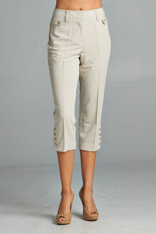 Women's Slim Leg Capri Pants
