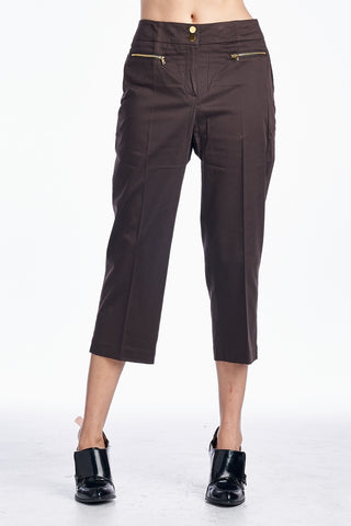 Larry Levine Front Zipper Capris - WholesaleClothingDeals - 1