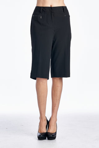Larry Levine Stretch Capris with Zipper Pockets - WholesaleClothingDeals - 1