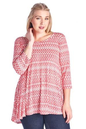 Marcelle Margaux Plus Printed Jersey Top - WholesaleClothingDeals - 1