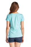 Christine V Short Sleeve Rose Embroidered V-Neck Tee - WholesaleClothingDeals - 4