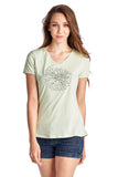 Christine V Short Sleeve Rose Embroidered V-Neck Tee - WholesaleClothingDeals - 6