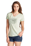 Christine V Short Sleeve Rose Embroidered V-Neck Tee - WholesaleClothingDeals - 5
