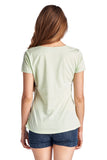 Christine V Short Sleeve Rose Embroidered V-Neck Tee - WholesaleClothingDeals - 8