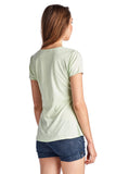 Christine V Short Sleeve Rose Embroidered V-Neck Tee - WholesaleClothingDeals - 7