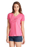 Christine V Short Sleeve Rose Embroidered V-Neck Tee - WholesaleClothingDeals - 14