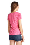 Christine V Short Sleeve Rose Embroidered V-Neck Tee - WholesaleClothingDeals - 15
