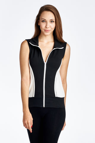 Urban Love Color Block Active Vest Jacket - WholesaleClothingDeals - 1