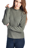 Urban Love High Neck Rib Knit Sweater - WholesaleClothingDeals - 1