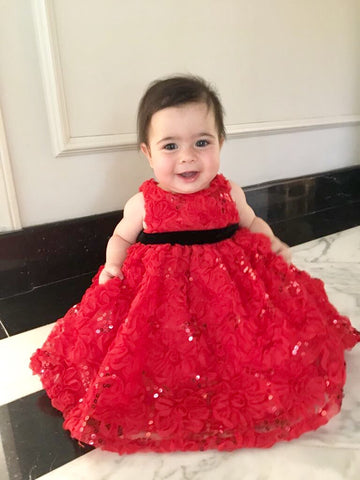 Infant Flower Sequin Party Dress