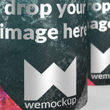 Deodorant cans close-up display marketing mockup closeup 2