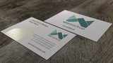 MOO Business Card Mockup with Gold Foil Angle 1