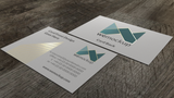 MOO Business Card Mockup with Gold Foil Angle 2
