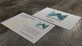 MOO Business Card Mockup with Gold Foil Angle 3